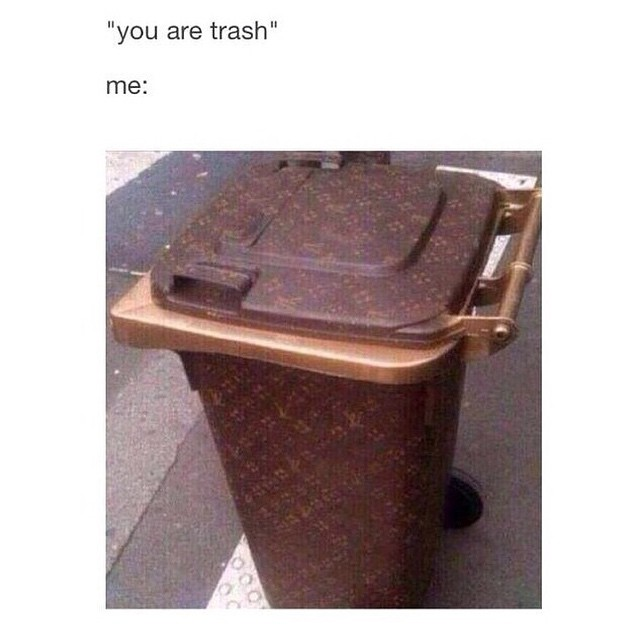#dustbin #garbage #lv #fashion #habal