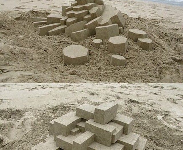 #modern #art #sandcastles #win #habal