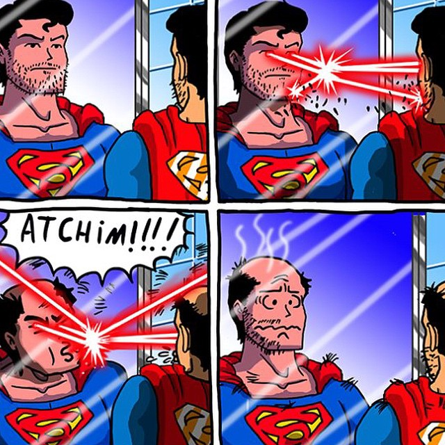 #superman #comic #sneeze #fail #habal