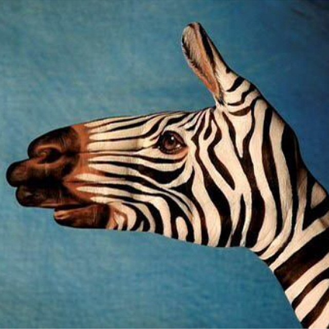 #halloween #zebra #hand #art #habal #هبل #HabaLdotCom #هبل_دوت_كوم
