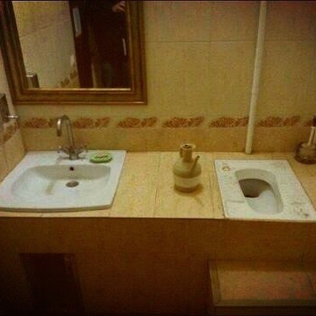 Don't mix up where you wash up & where you wash down #toilet #fail #HabaLdotCom #هبل_دوت_كوم