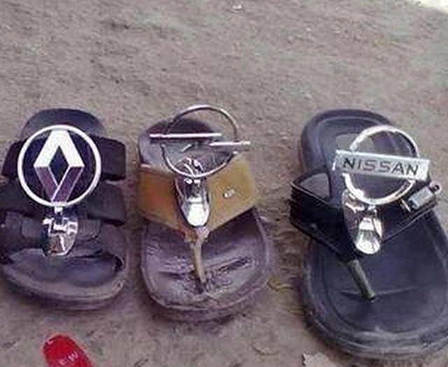 Genuine merchandise? #slippers #flipflops #carbrands #HabaLdotCom #هبل_دوت_كوم