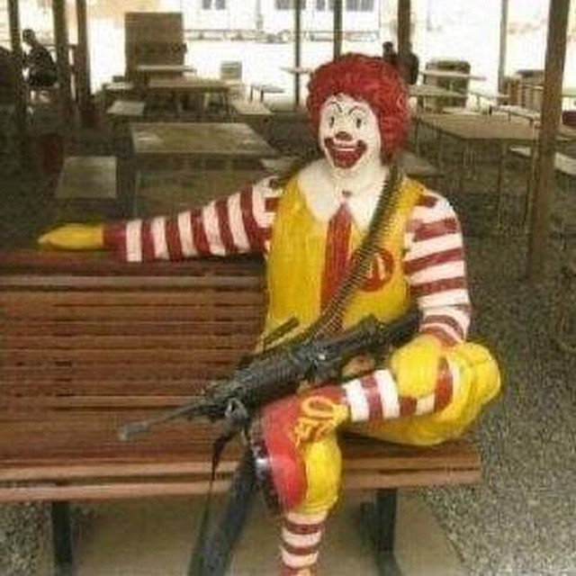 Ronald the clown terrorist? #watchout #habal #هبل #HabaLdotCom #هبل_دوت_كوم