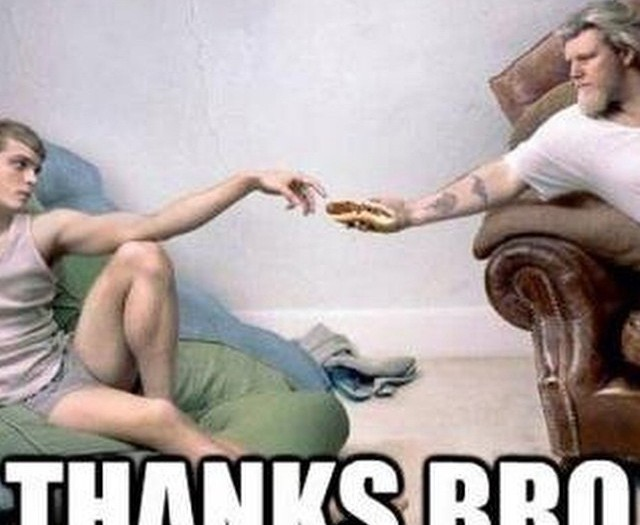 #thanks #bro #michaelangelo #sandwich #habal