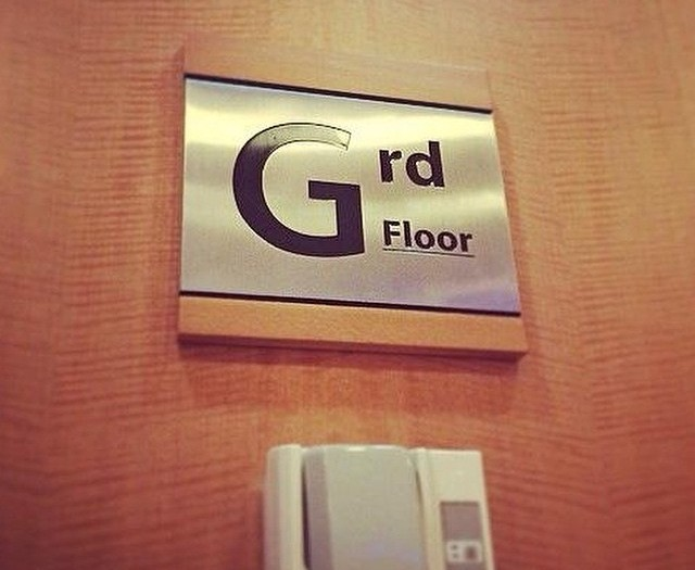 Beware of the Grd floor #wtf #elevator #lift #signs #fail #HabaLdotCom #هبل_دوت_كوم