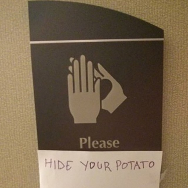 Hide them potatoes #signs #habal