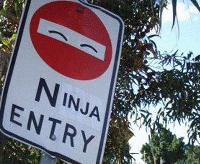 #roadsigns #ninja #entry #habal