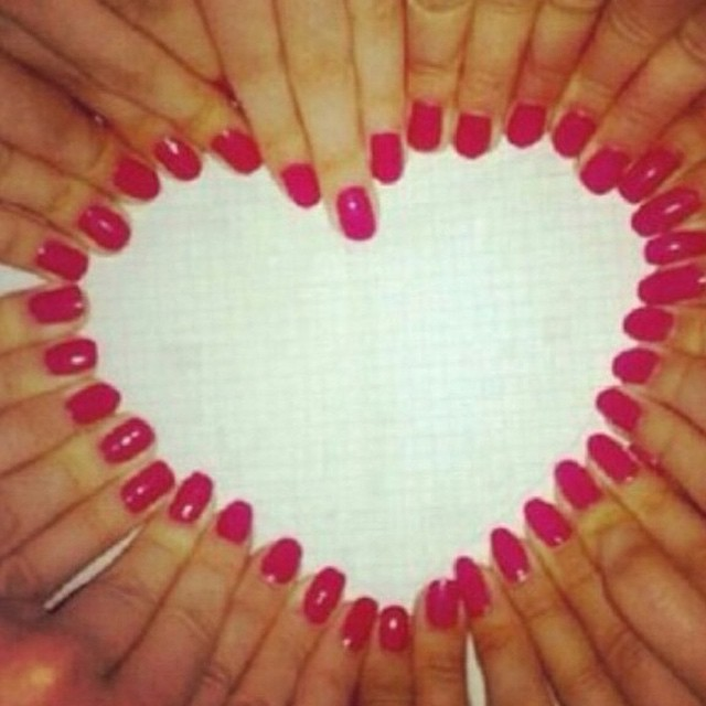 #nail #art #heart #habal