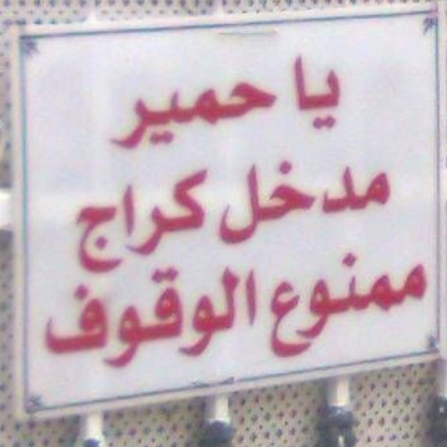 #vulgar #arabic #noparking #sign #habal #هبل #HabaLdotCom #هبل_دوت_كوم