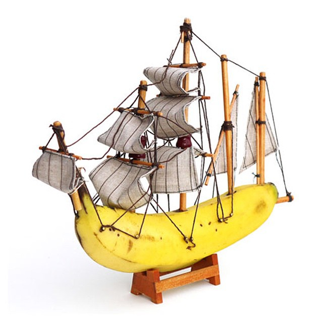 #banana #boat #frigate #creative #art #habal #هبل #HabaLdotCom #هبل_دوت_كوم
