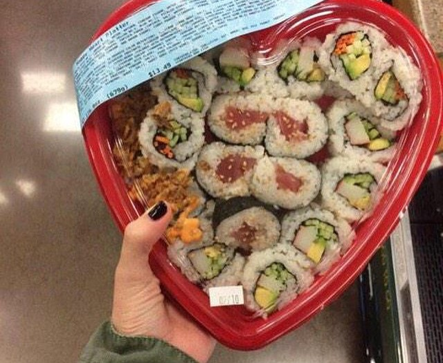 #happy#sushi's day #valentines #love #food #habal #هبل #HabaLdotCom #هبل_دوت_كوم