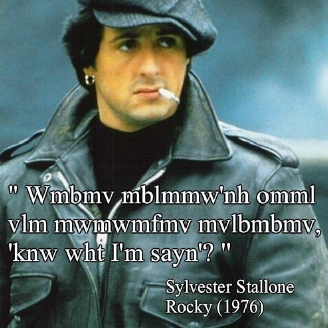 #famous #words by #Sylvester #rocky #movie #habal #هبل #HabaLdotCom #هبل_دوت_كوم