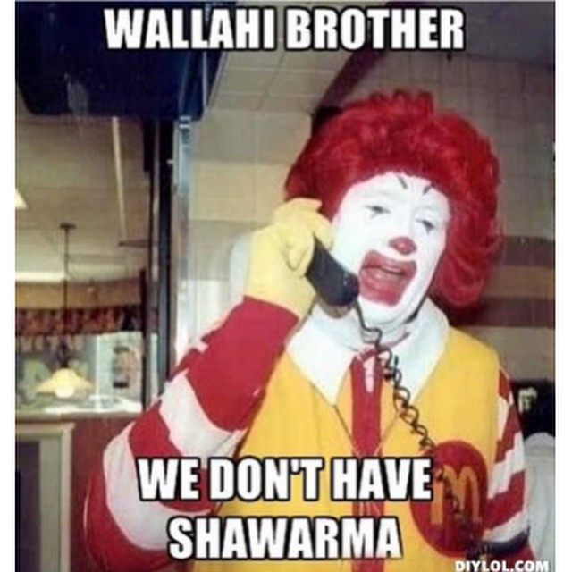 #mcdonalds says no #shawarma #mcdees #ronald #habal #هبل #HabaLdotCom #هبل_دوت_كوم