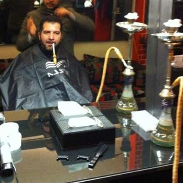 Forget #barber#shop this is #barber#shisha #habal #هبل #HabaLdotCom #هبل_دوت_كوم