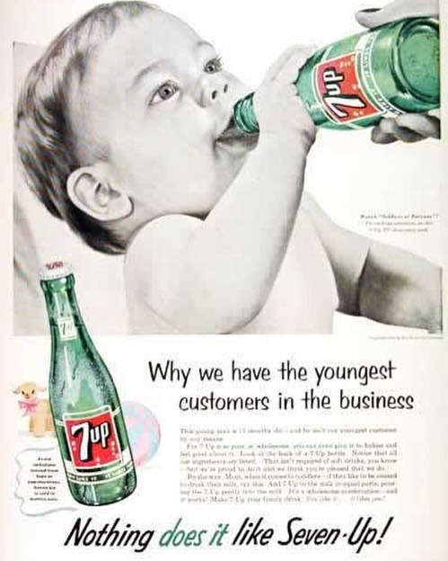 #wtf #7up for #babies #vintage #naive #ads #habal #هبل #habaldotcom