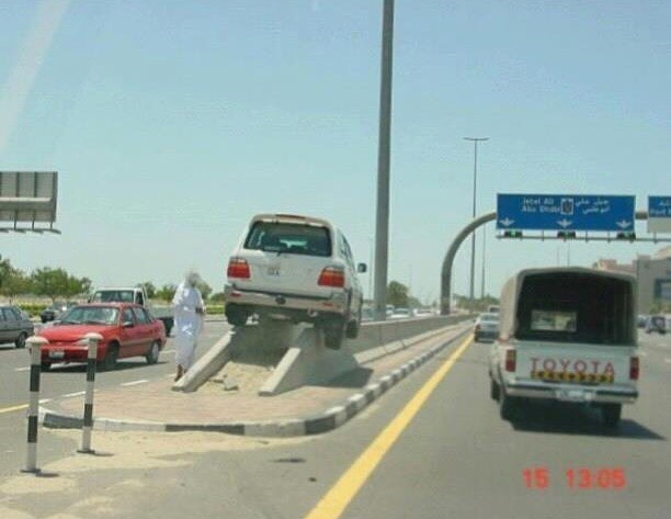#perfect #parking #spot #oilcheck #highway #habal #هبل #habaldotcom