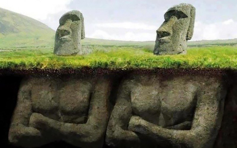 That's what's really #under the #easterisland #monuments #habal #هبل #habaldotcom