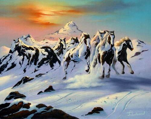 #mountain #horses #art #win #habal #هبل #habaldotcom