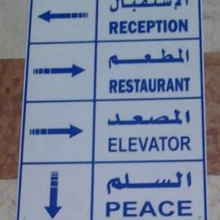 #peace is #down but not #out #lostintranslation #signs #habal #هبل #habaldotcom